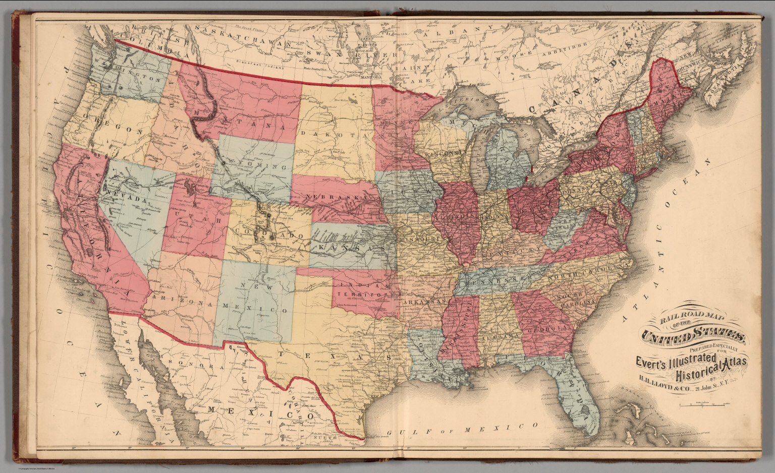 Railroad Map Of The United States David Rumsey Historical Map - United states map atlas