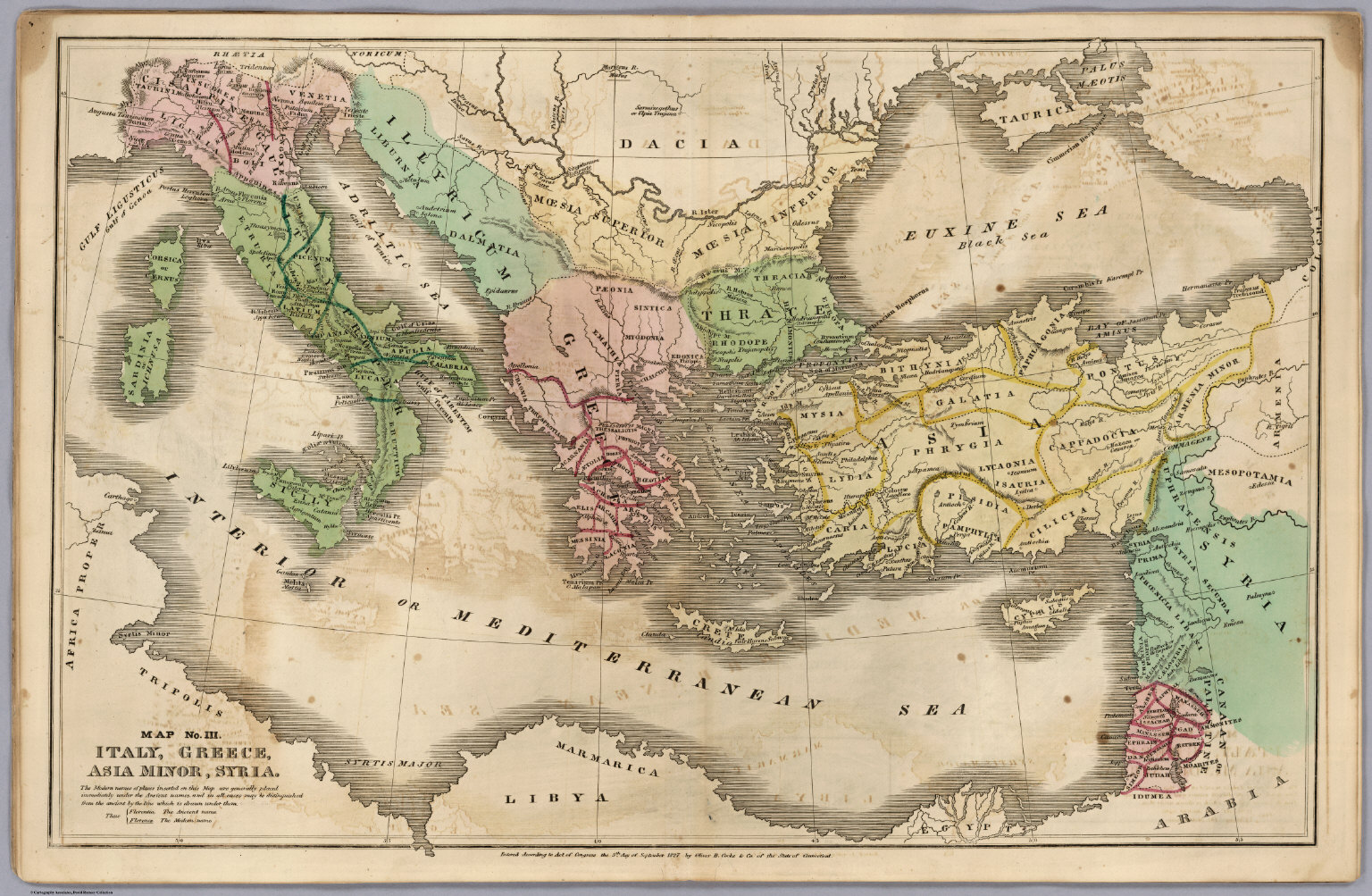 Map No. III. Italy, Greece, Asia Minor, Syria