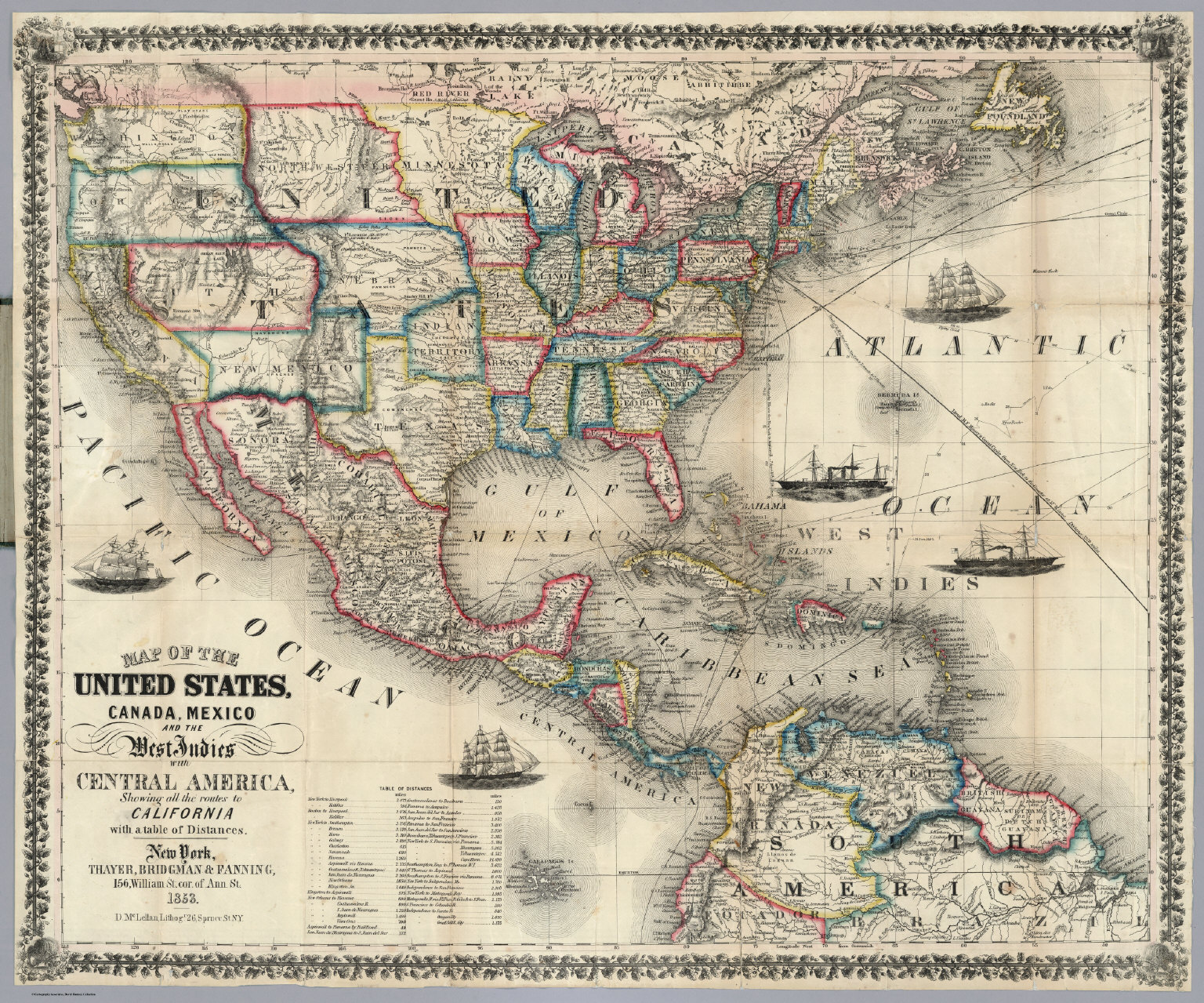 Map Of Southern Usa Evolutionside Railway And County Map Of The - Outline map of usa and mexico