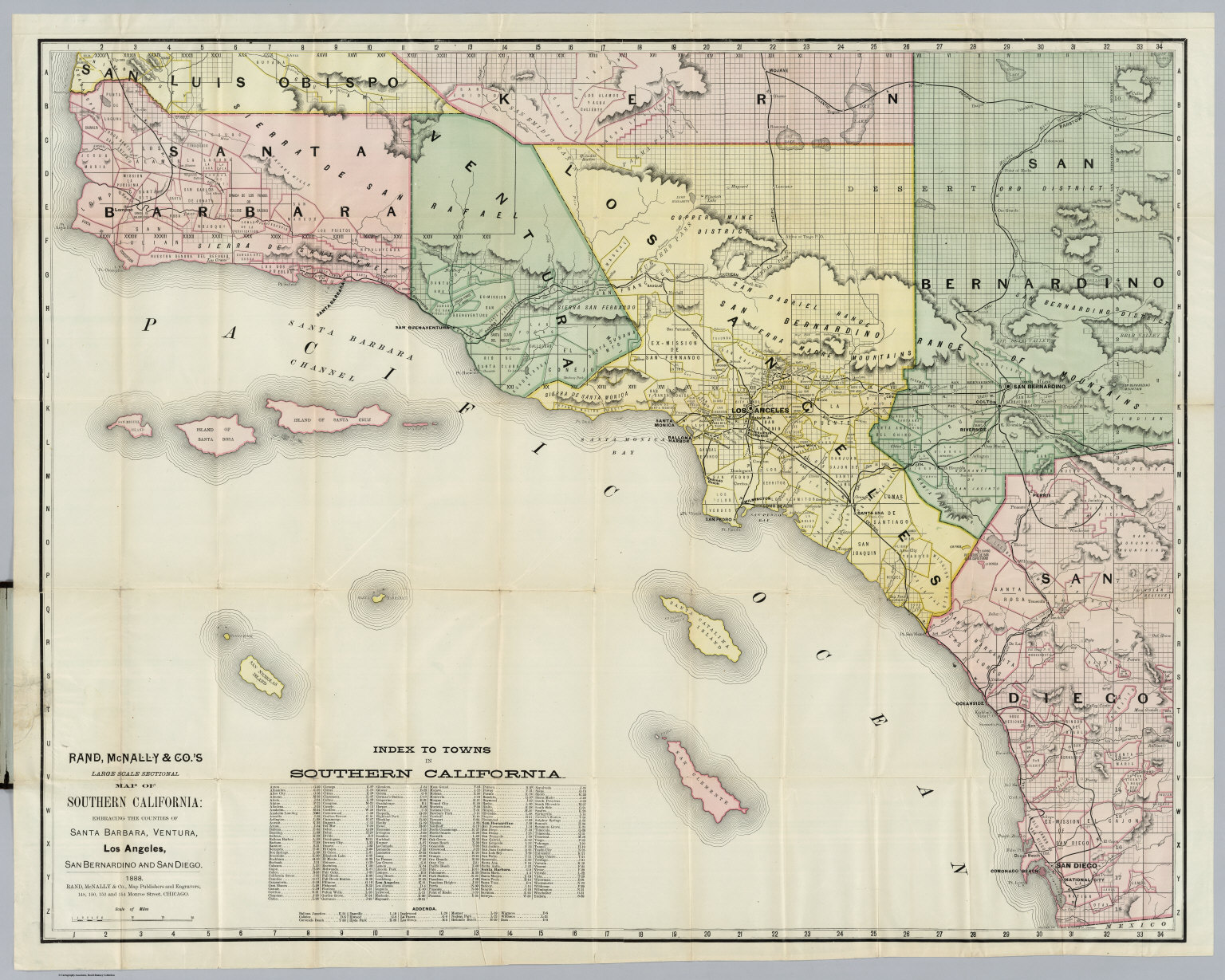 Southern California David Rumsey Historical Map Collection - Los angeles ventura map