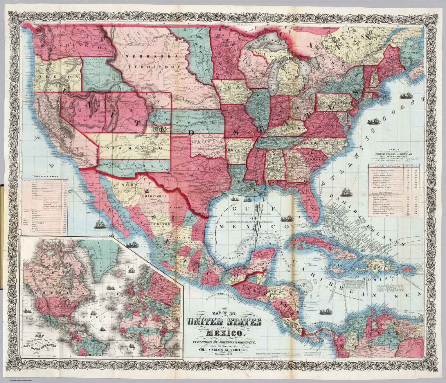 Map of the United States and Mexico David Rumsey Historical Map – Map United States and Mexico