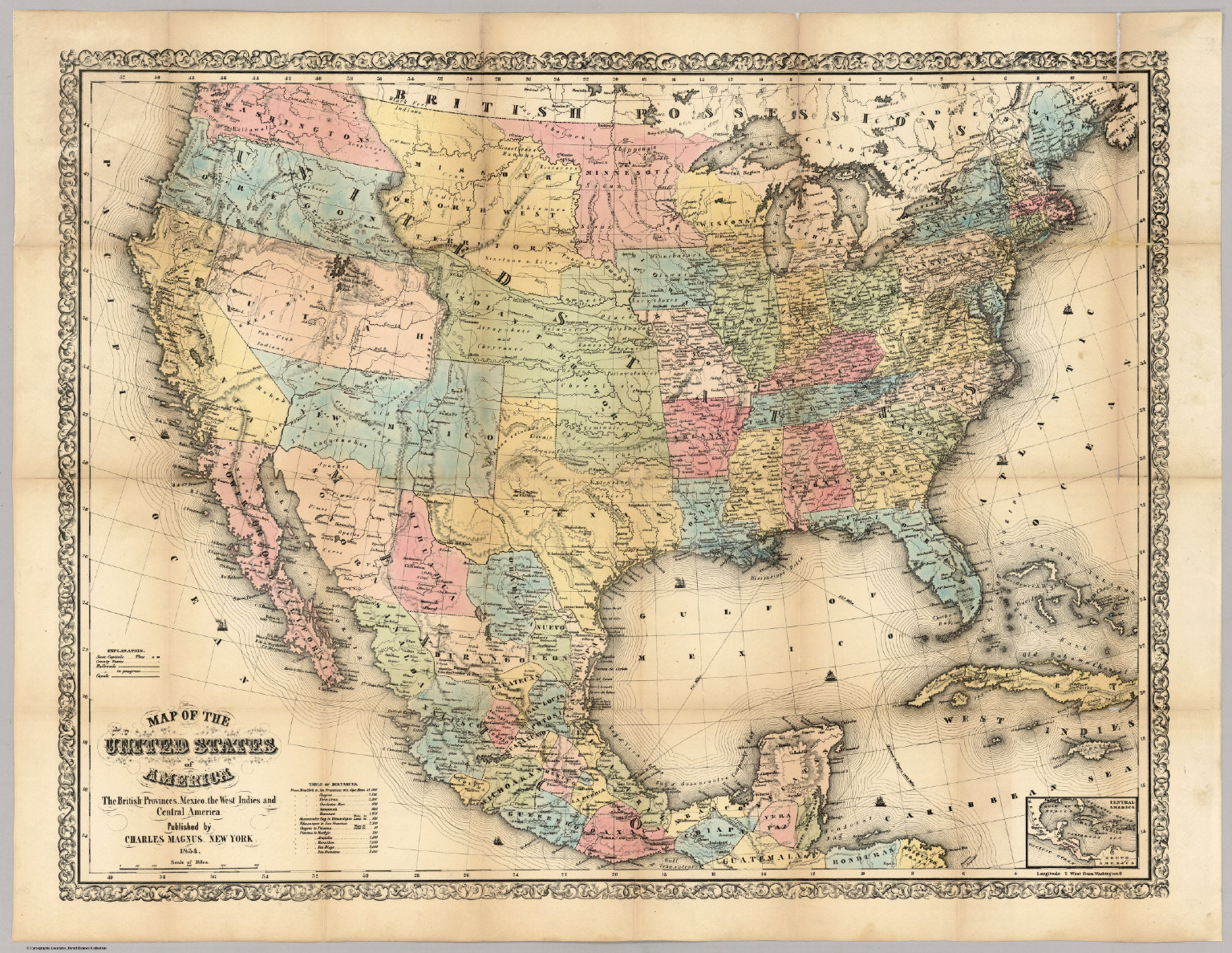 Map Of The Us - Blank blank map of the us 1854