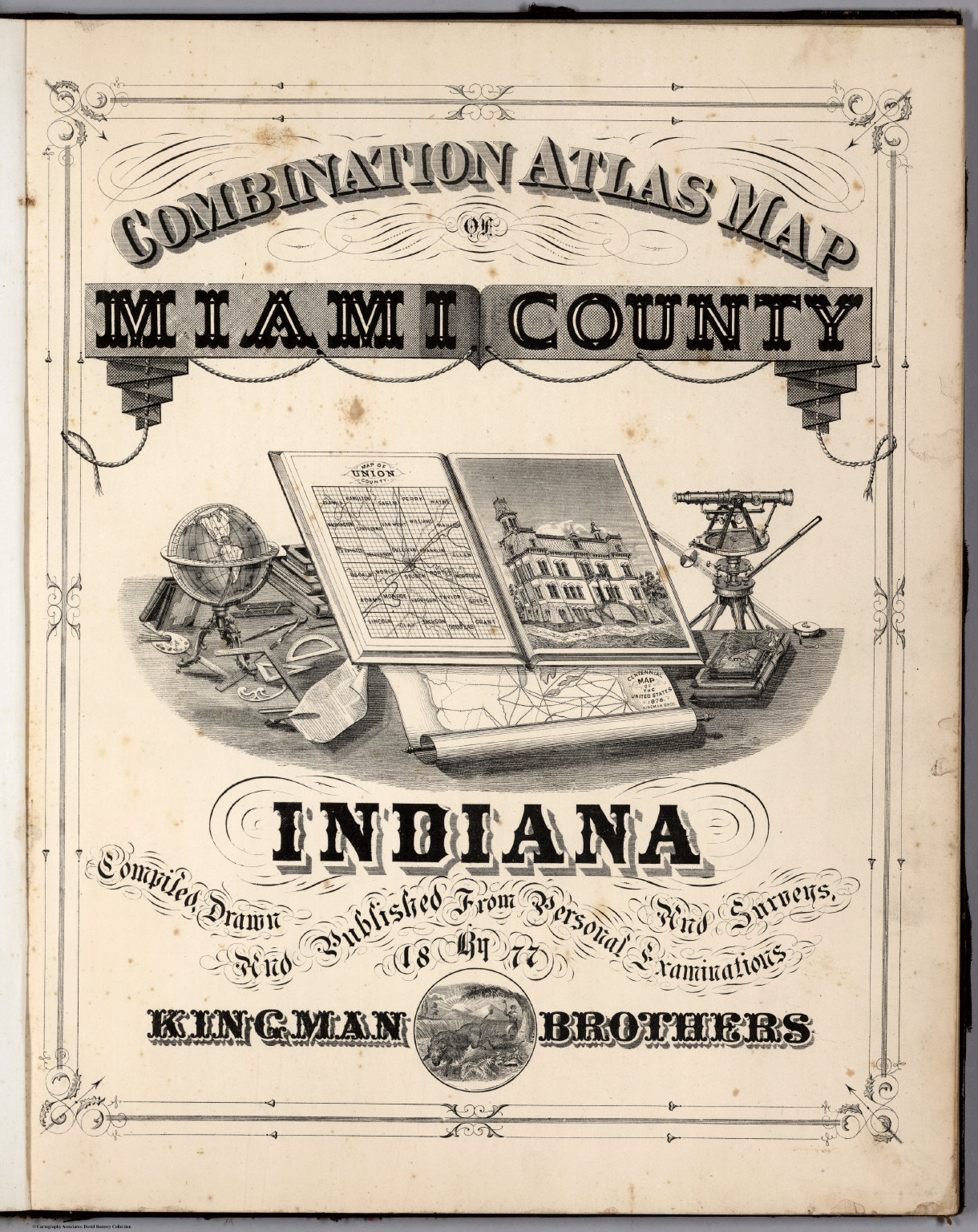 Title Page Combination Atlas Map Of Miami County Indiana David - Map of miami county indiana