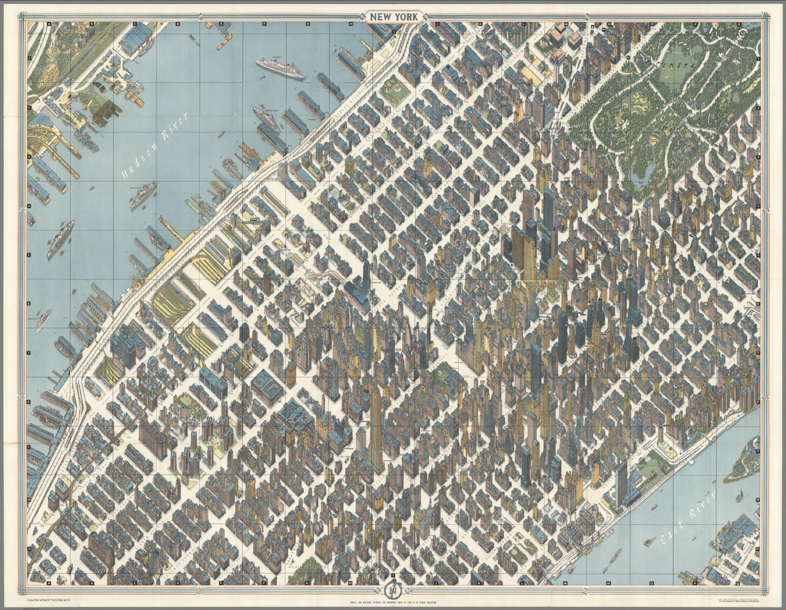 New York City Picture Map A D Map Of Midtown Manhattan - New york map in 3d
