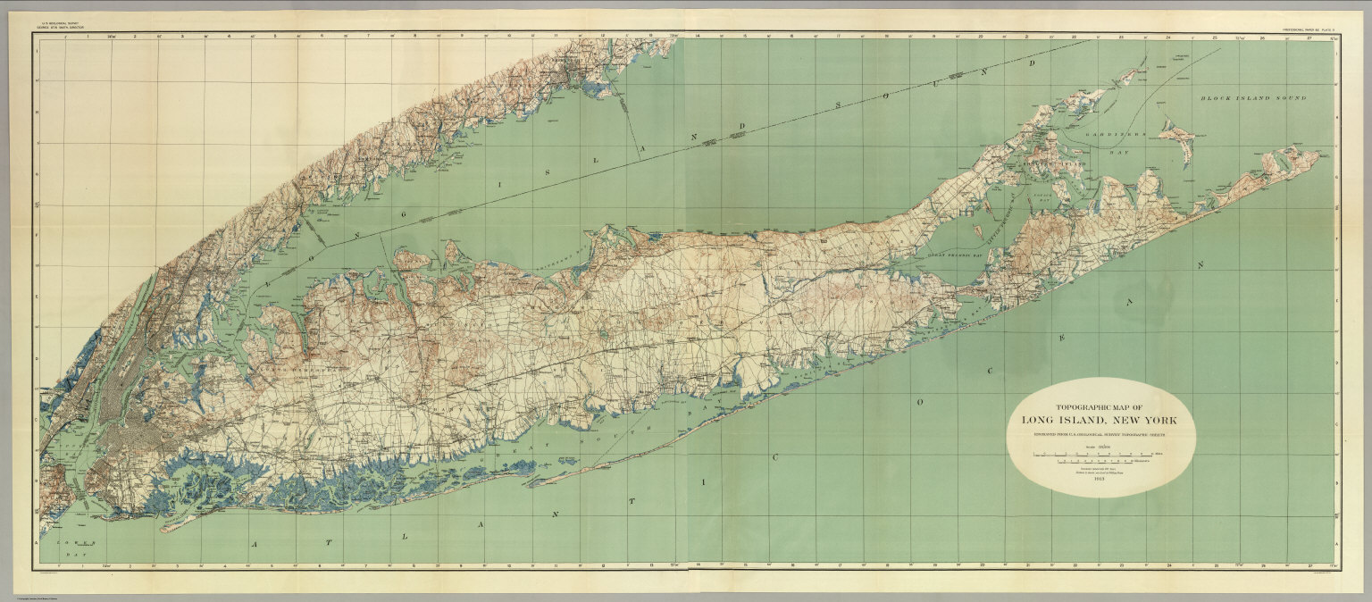 Map Of Long Island New York David Rumsey Historical Map Collection - Nyc map topographic