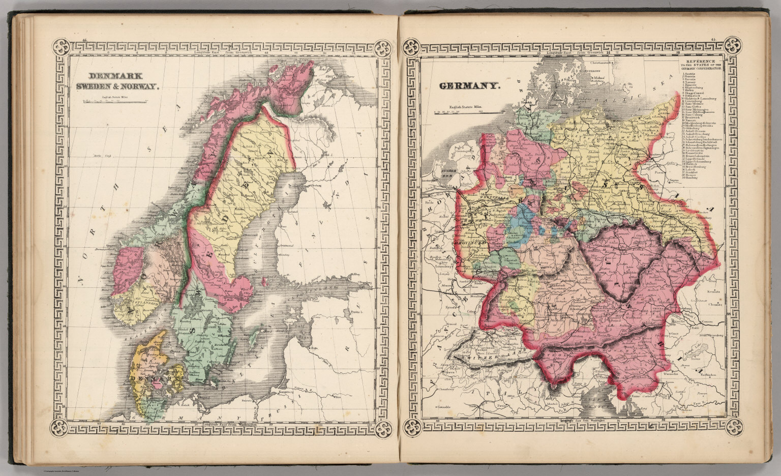 Denmark Sweden and Norway Germany David Rumsey Historical Map – Germany Denmark Map