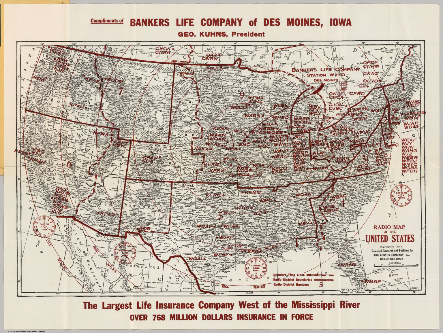 Radio Map Of The United States David Rumsey Historical Map - Us map west of the mississippi