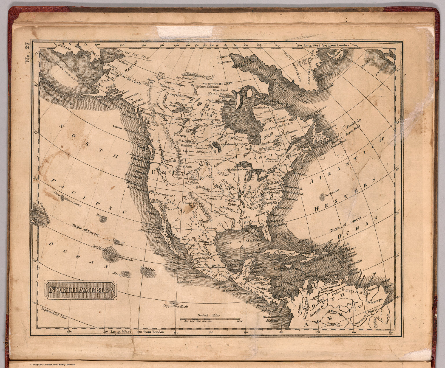 North America David Rumsey Historical Map Collection - Old maps of america