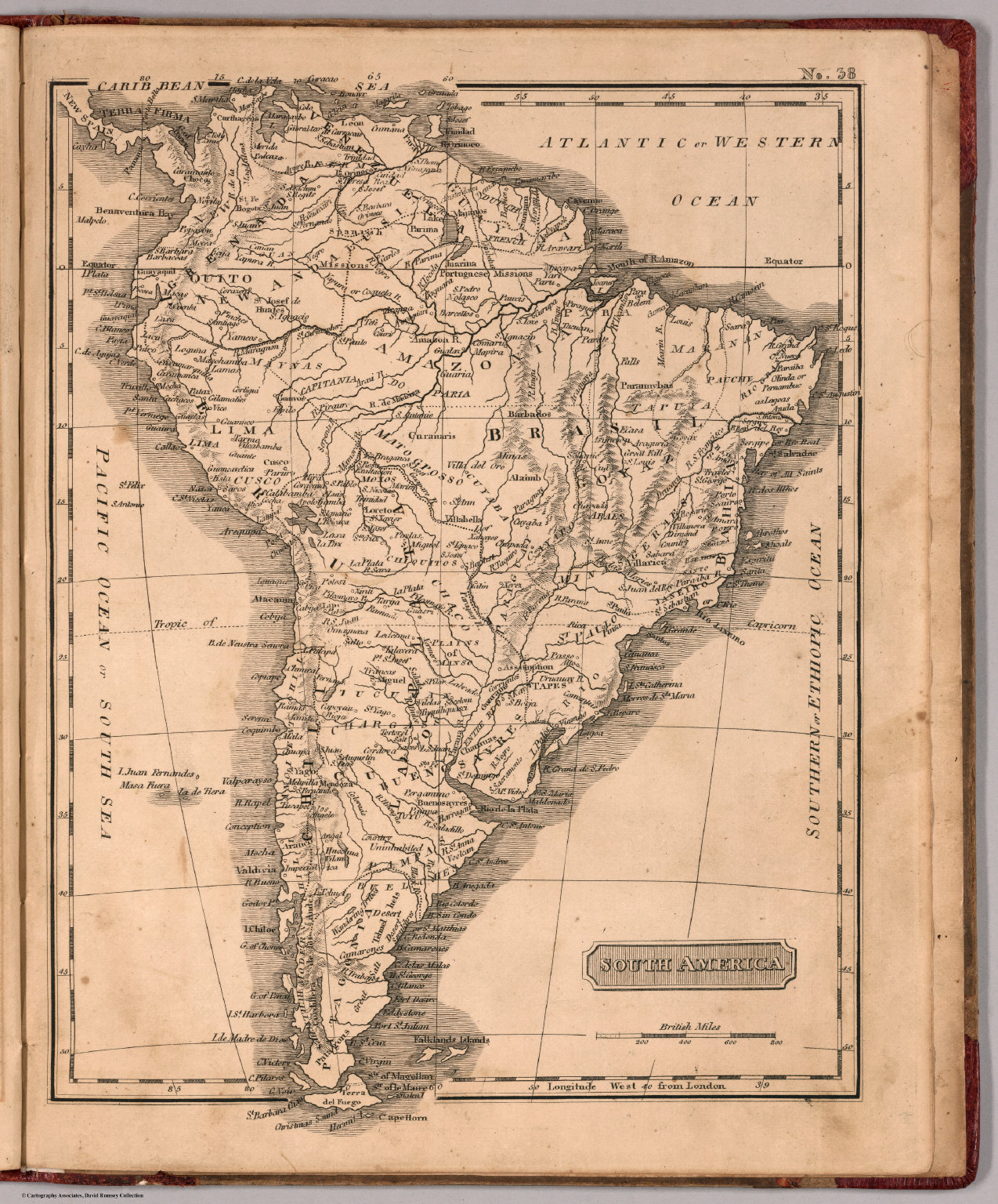 South America David Rumsey Historical Map Collection - Old maps of america