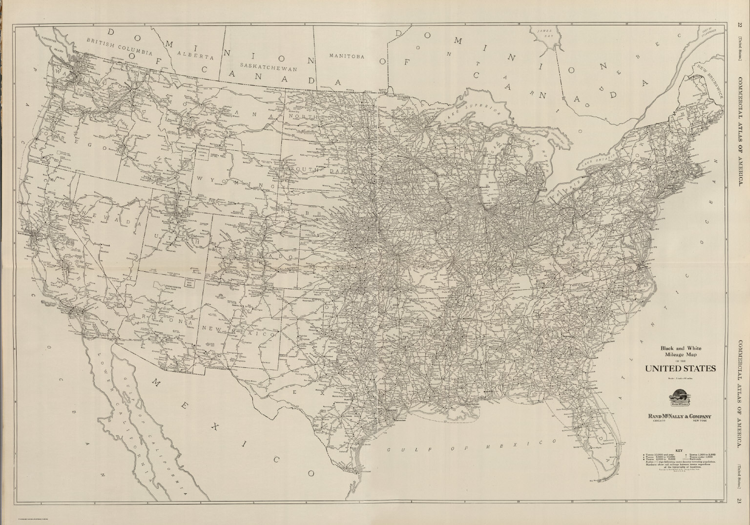 Composite Black and White Mileage Map of the United States – Map Usa Black and White