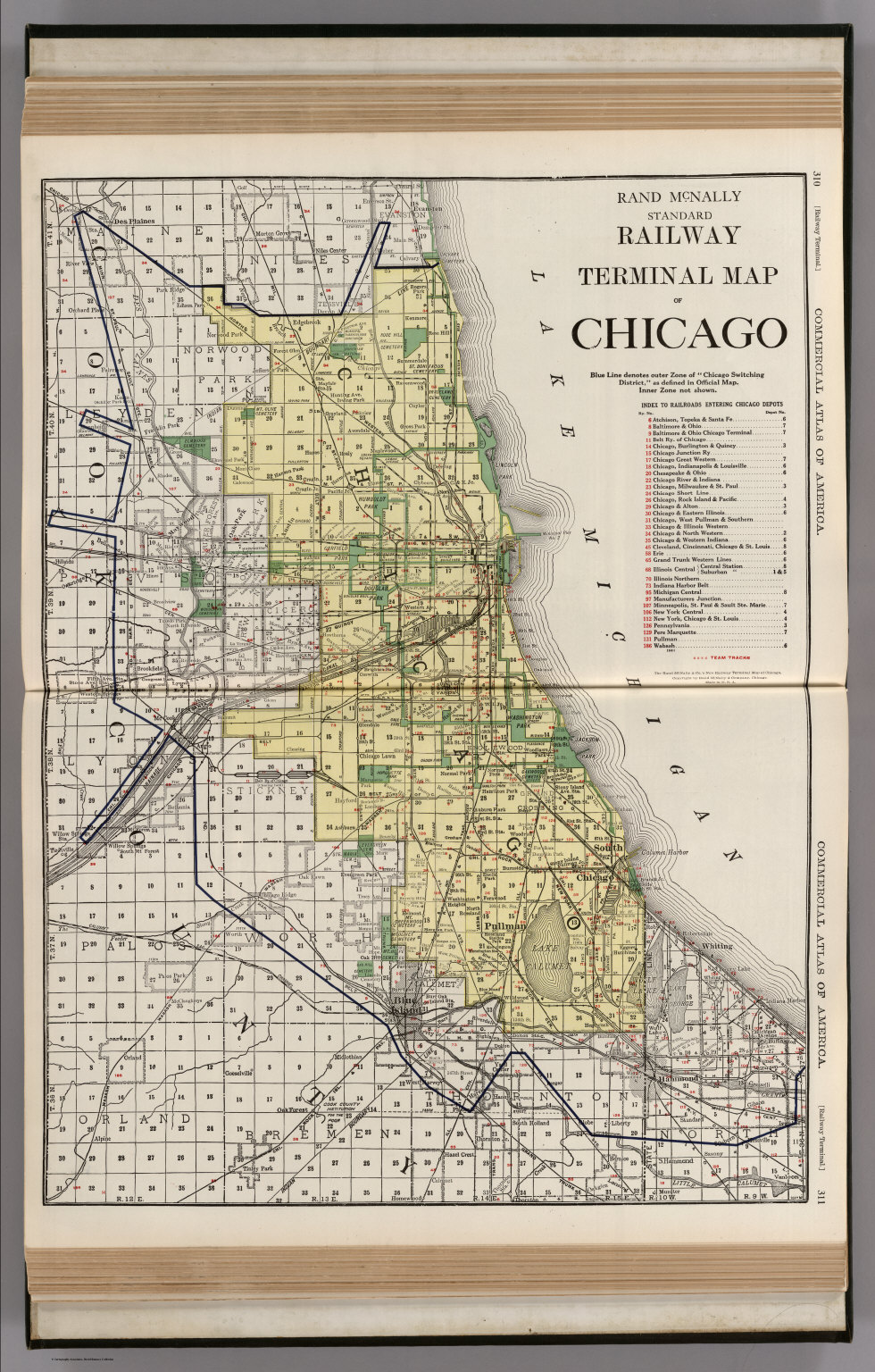 Railway Terminal Map Of Chicago David Rumsey Historical Map - Chicago terminal map