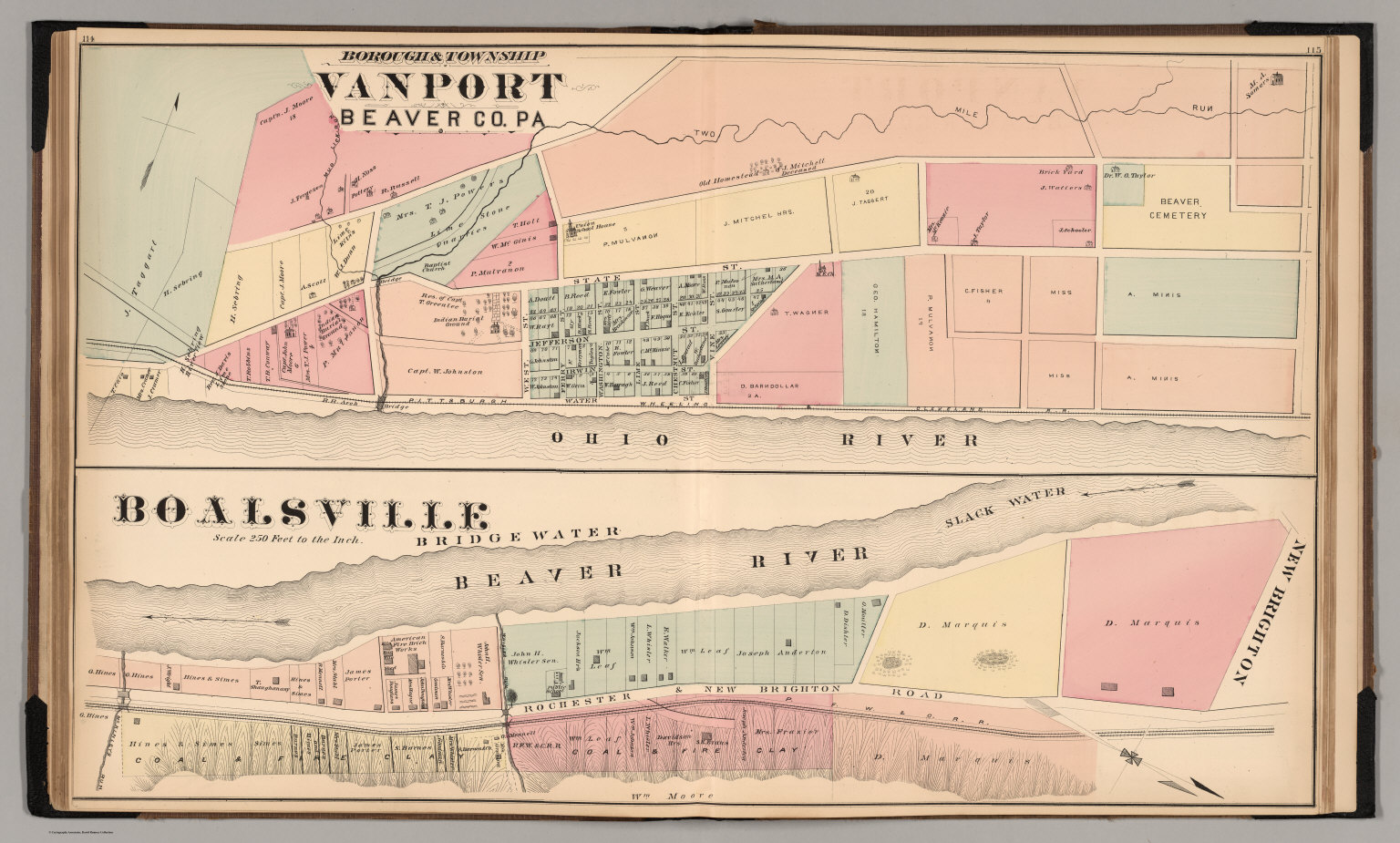 Vanport - Borough and Township, Beaver Co. PA. (with) Boalsvillecaldwell borough