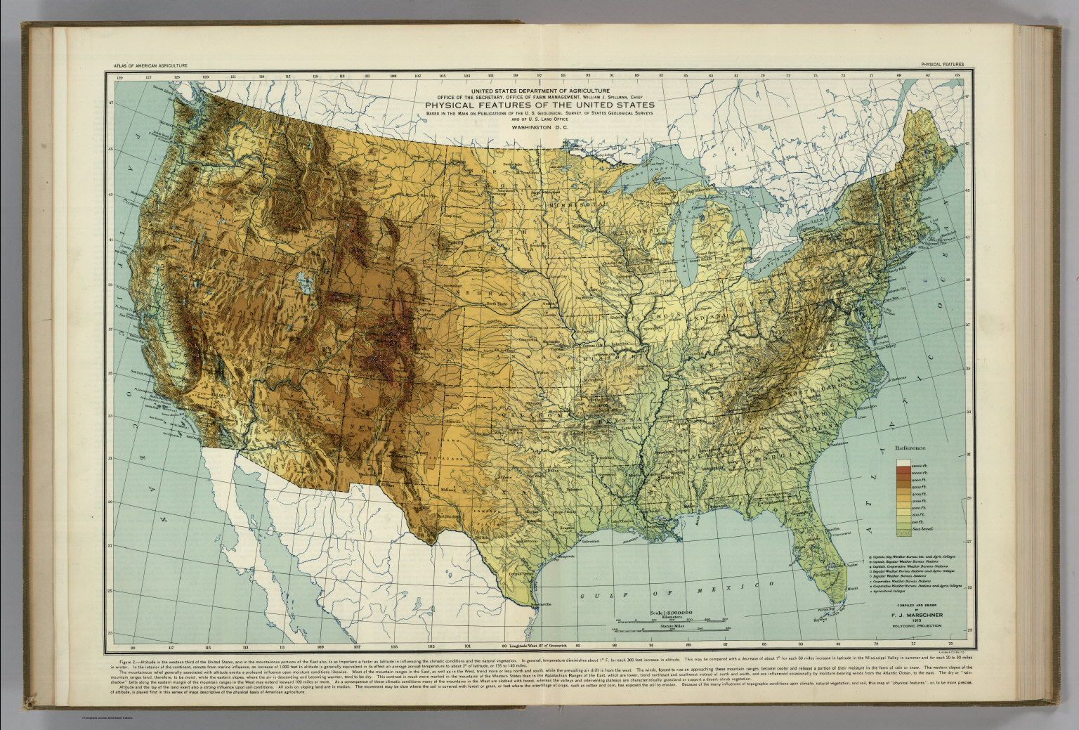 Physical Map Of USA National Geographic USA Physical Wall Map - Map of usa physical