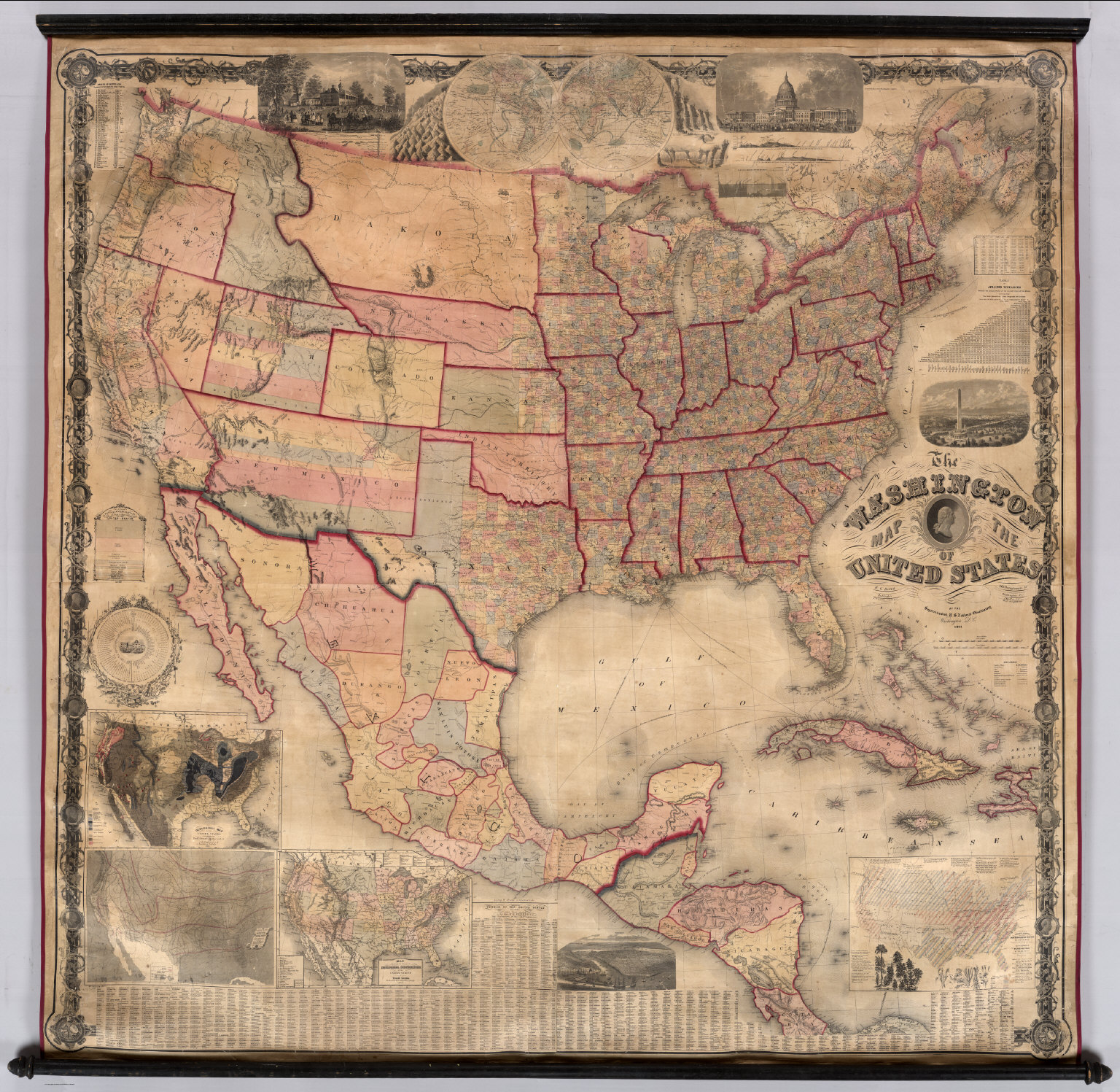 Us Map In 1861.Washington Map Of The United States 1861 1536x1497 Mapporn