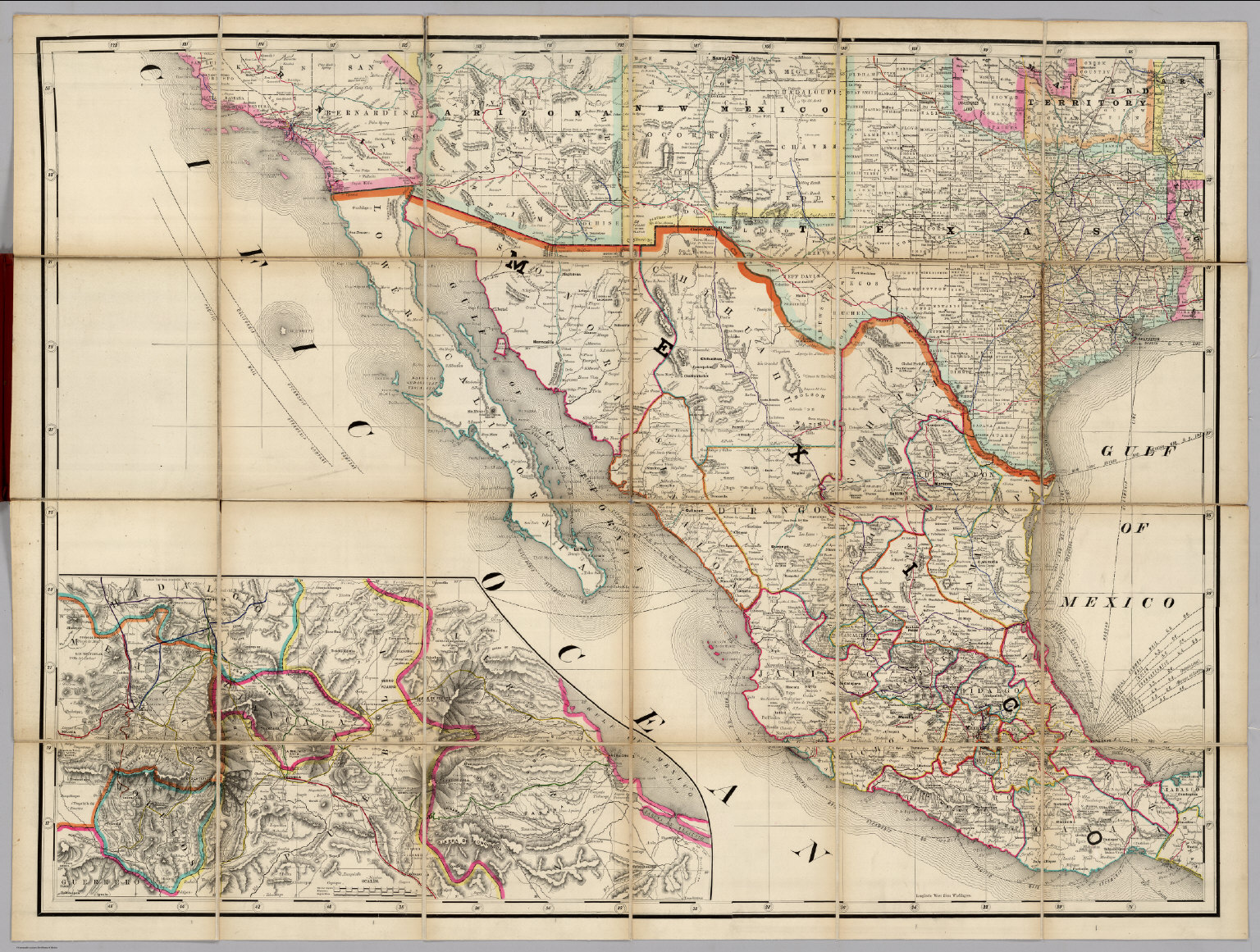 US Southwest Mexico Railroad Map Of The United States David - Us southwest map