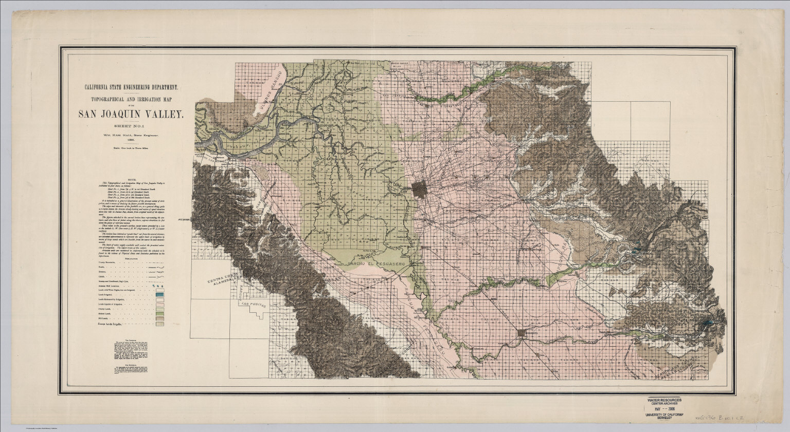 1 Northern Portion Irrigation Map Of The San Joaquin Valley California