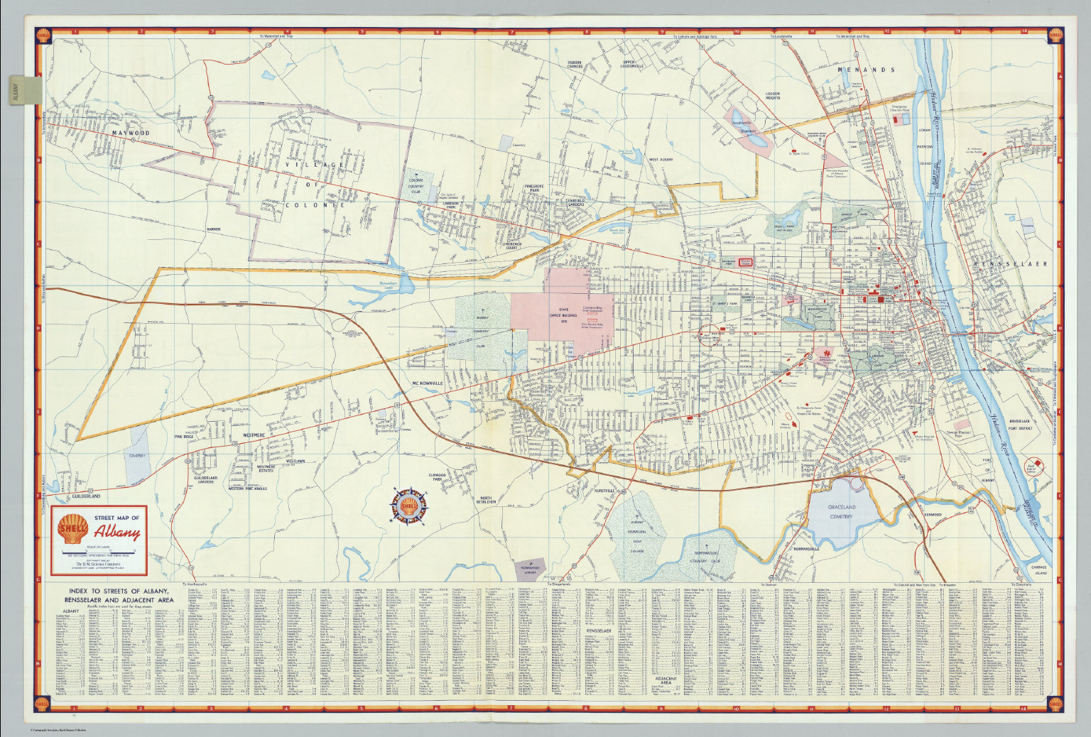 albany new york david rumsey historical map collection