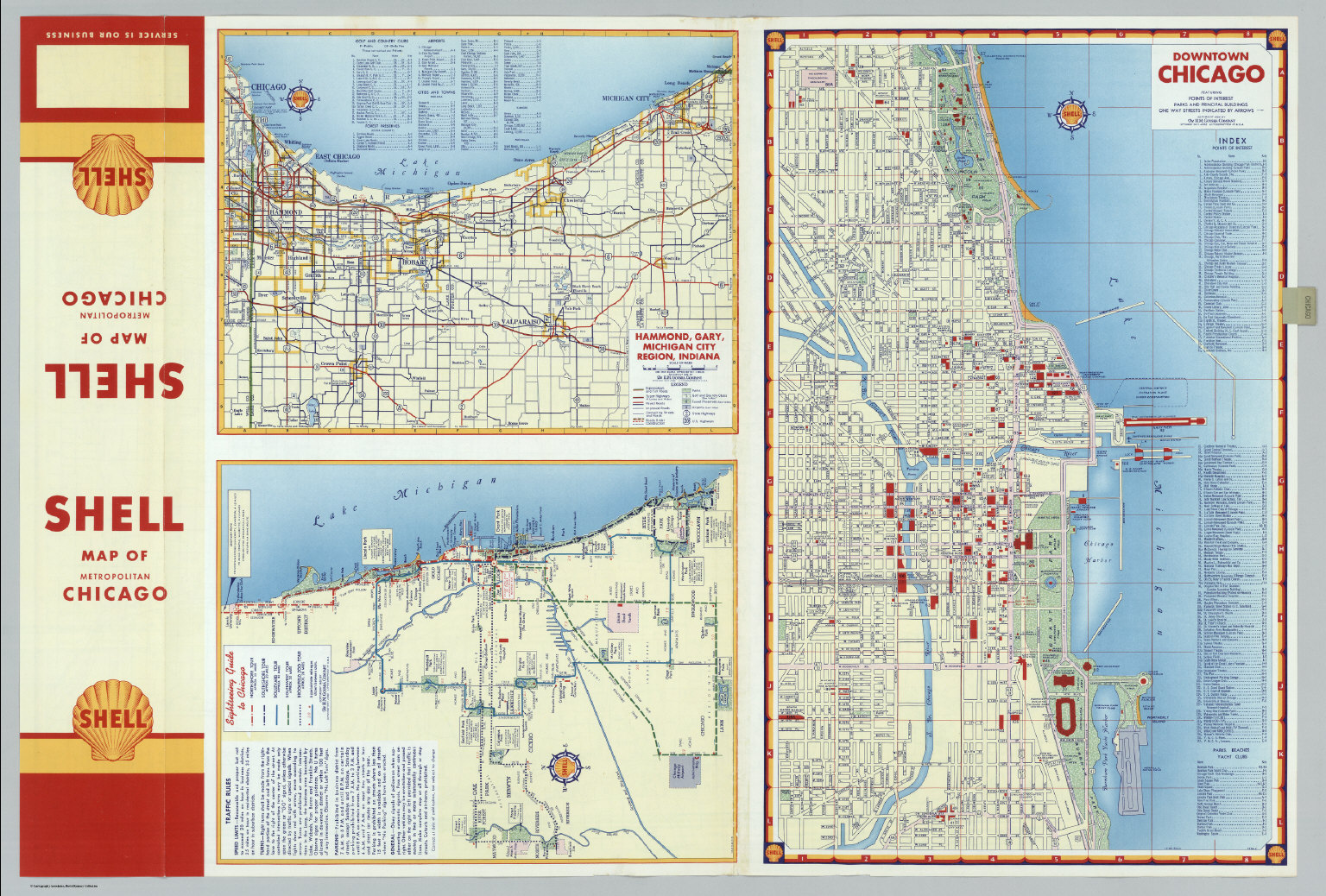Downtown Chicago Hammond Gary Michigan City Region Indiana – Indiana Tourist Attractions Map