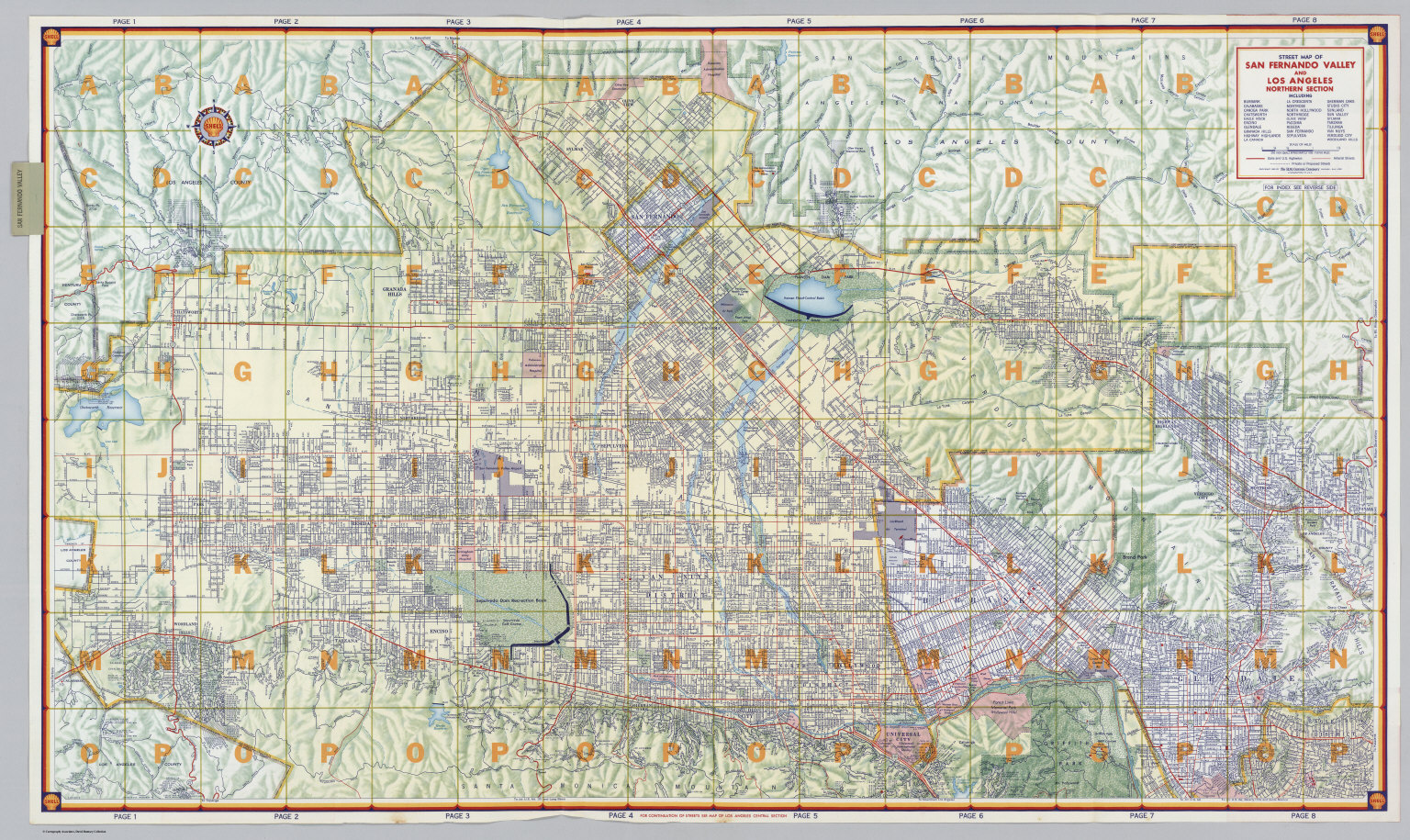 MacGyver Shooting Locations Hills Street Map Of Los Angeles - Los angeles map westwood