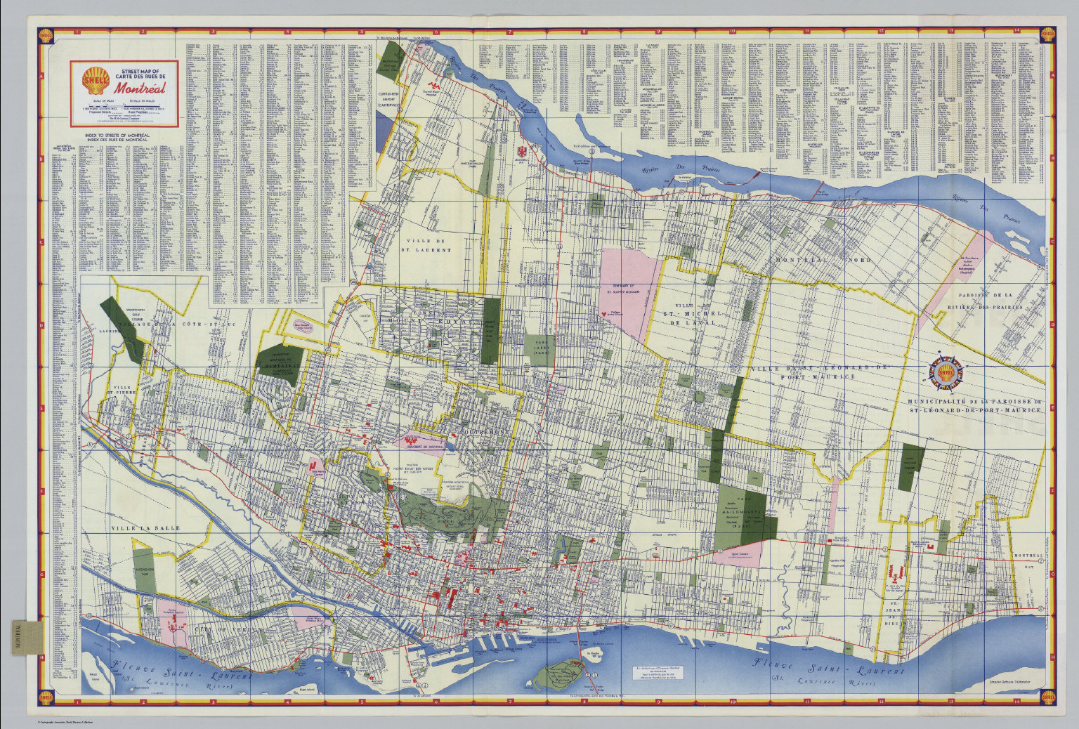 Montreal Street Map Shell Street Map of Montreal