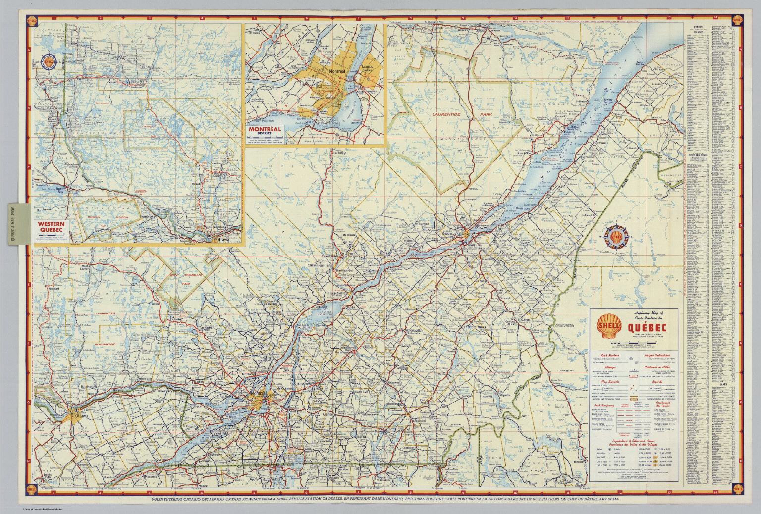 Shell Highway Map Of Quebec David Rumsey Historical Map Collection - Quebec chicago map