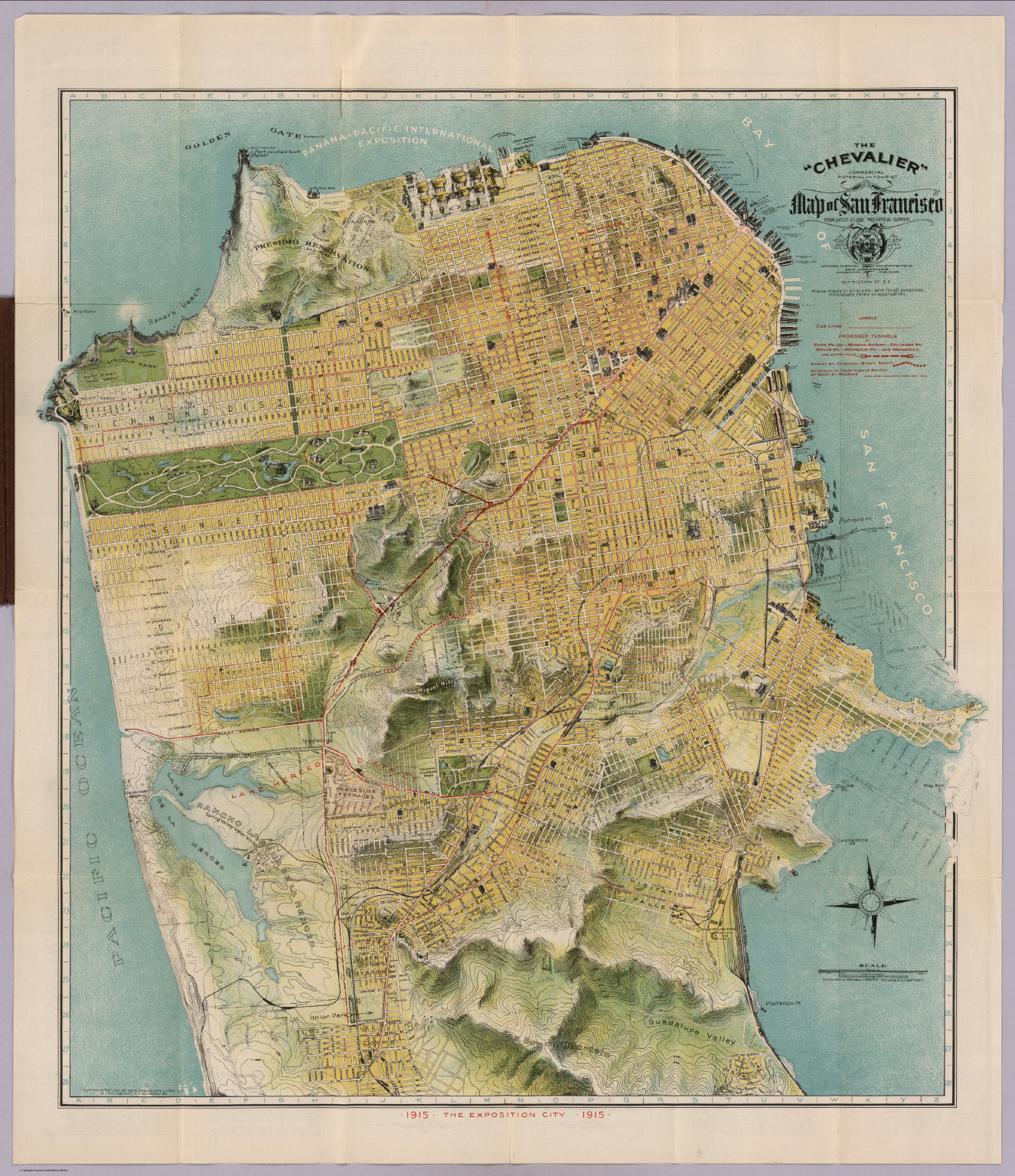 The Chevalier Commercial Pictorial and Tourist Map of San – San Francisco Tourist Map