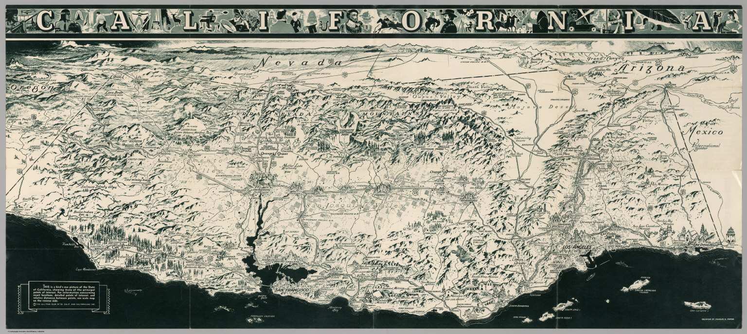 Browse All  Images Of California David Rumsey Historical Map - Jo mora los angeles map