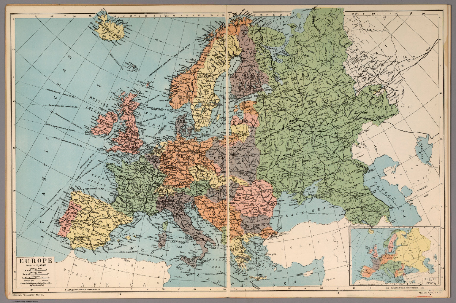 Europe David Rumsey Historical Map Collection – Europe Atlas Map