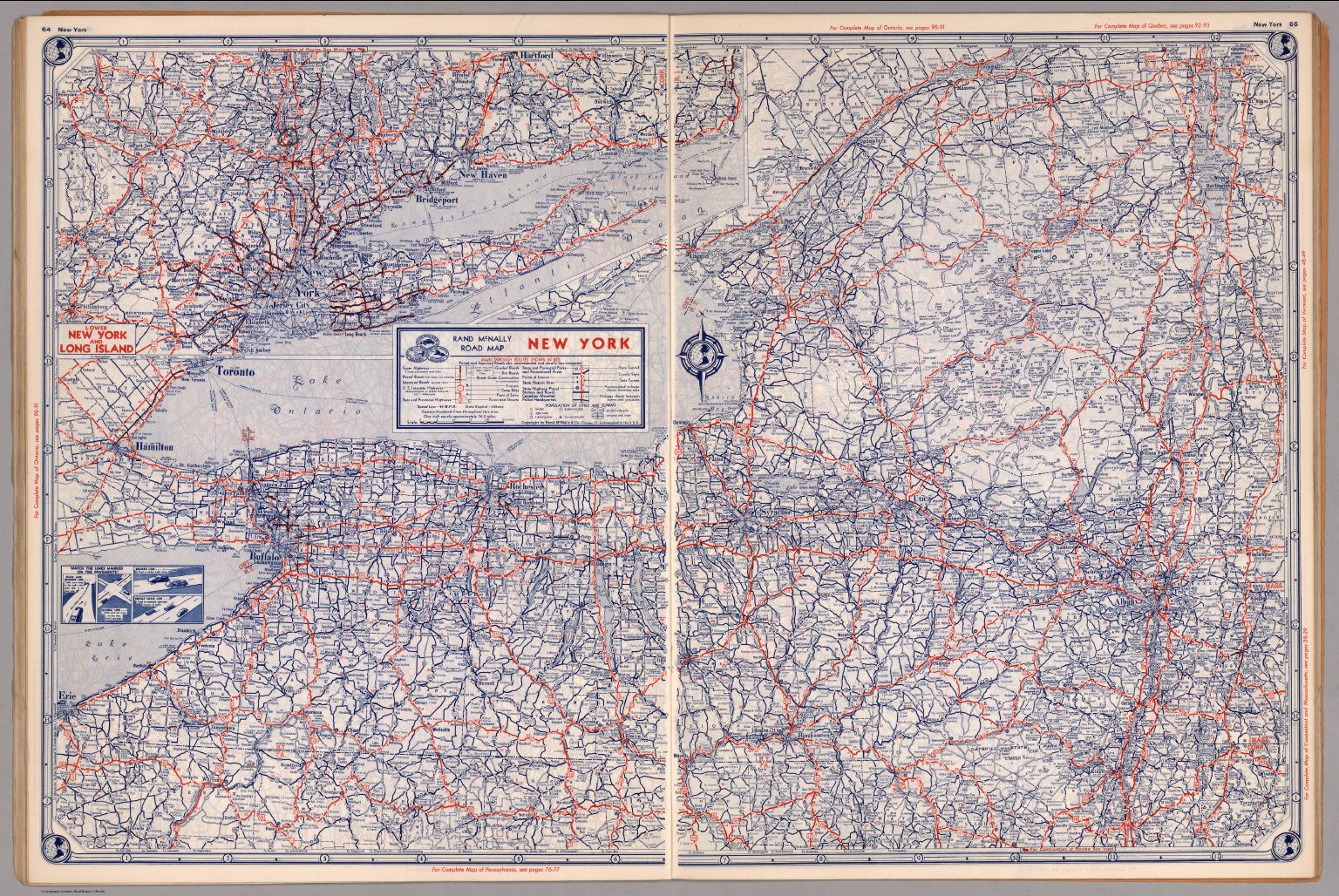 Road Map Of New York David Rumsey Historical Map Collection - Nyc map road