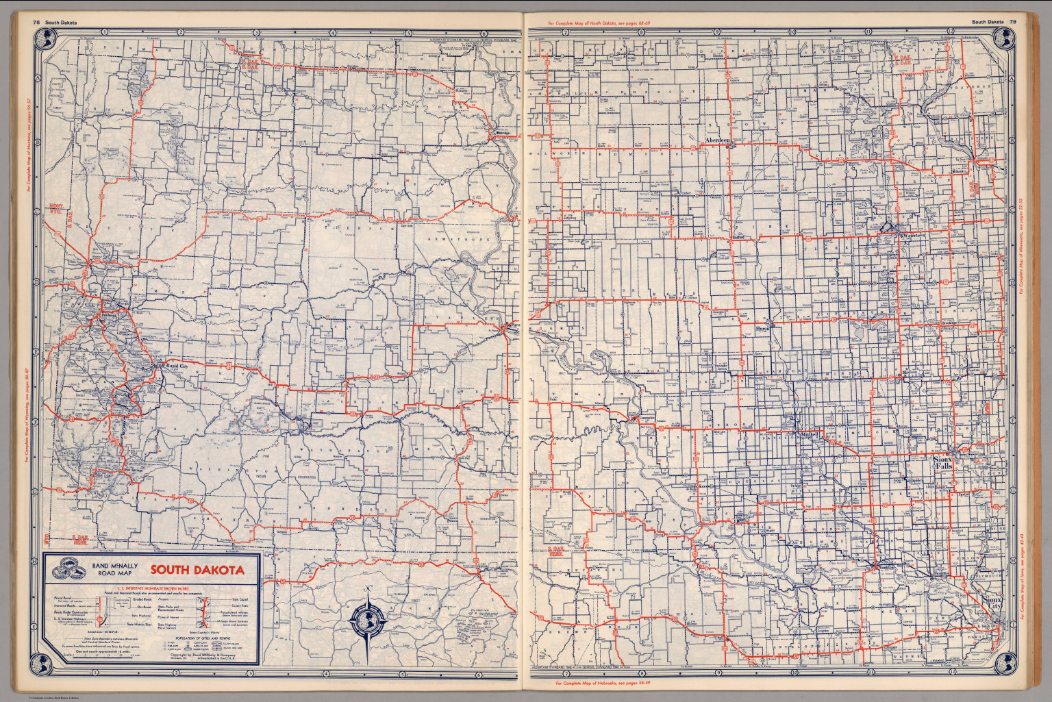road map of south dakota david rumsey historical map collection