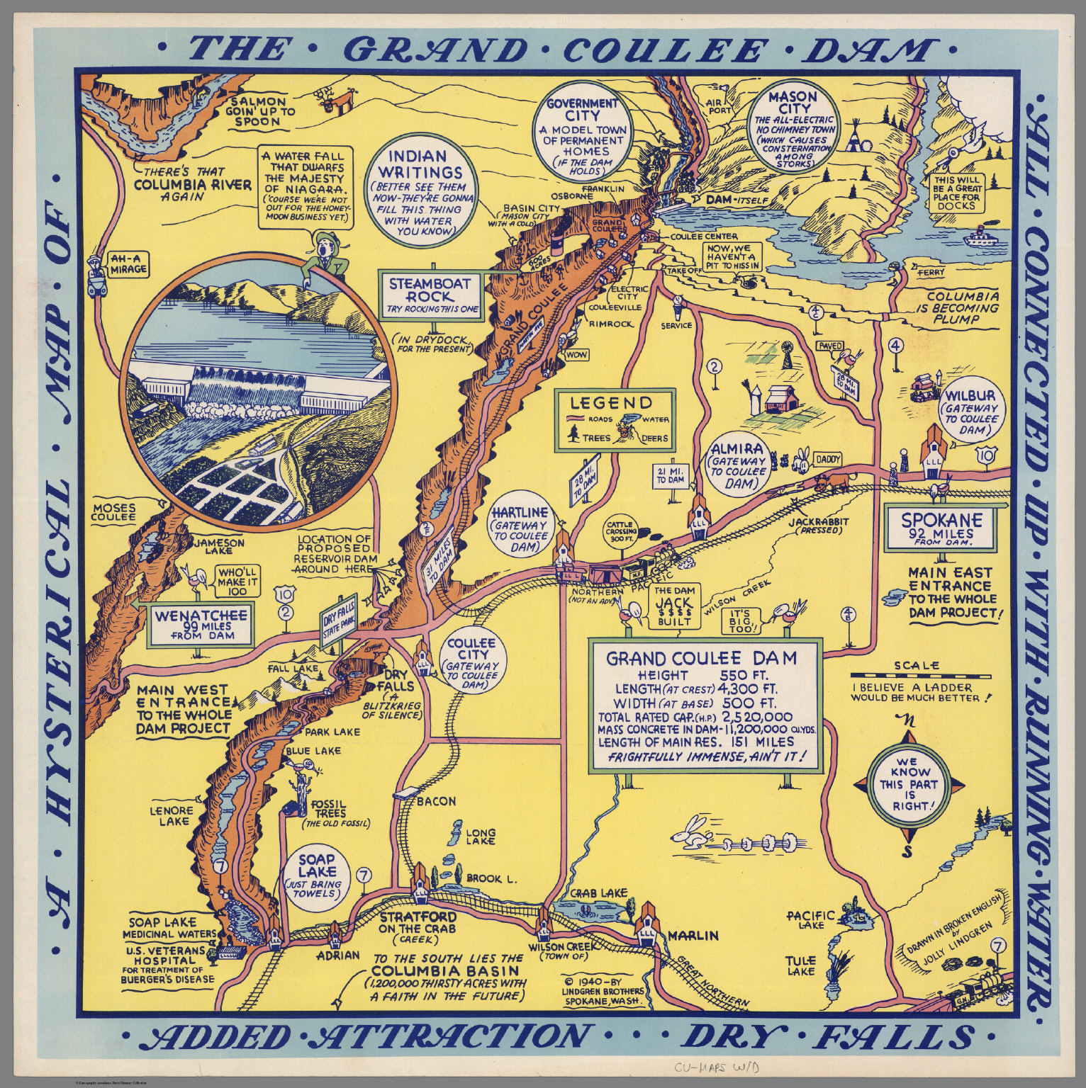 a hysterical map of the grand coulee dam david rumsey