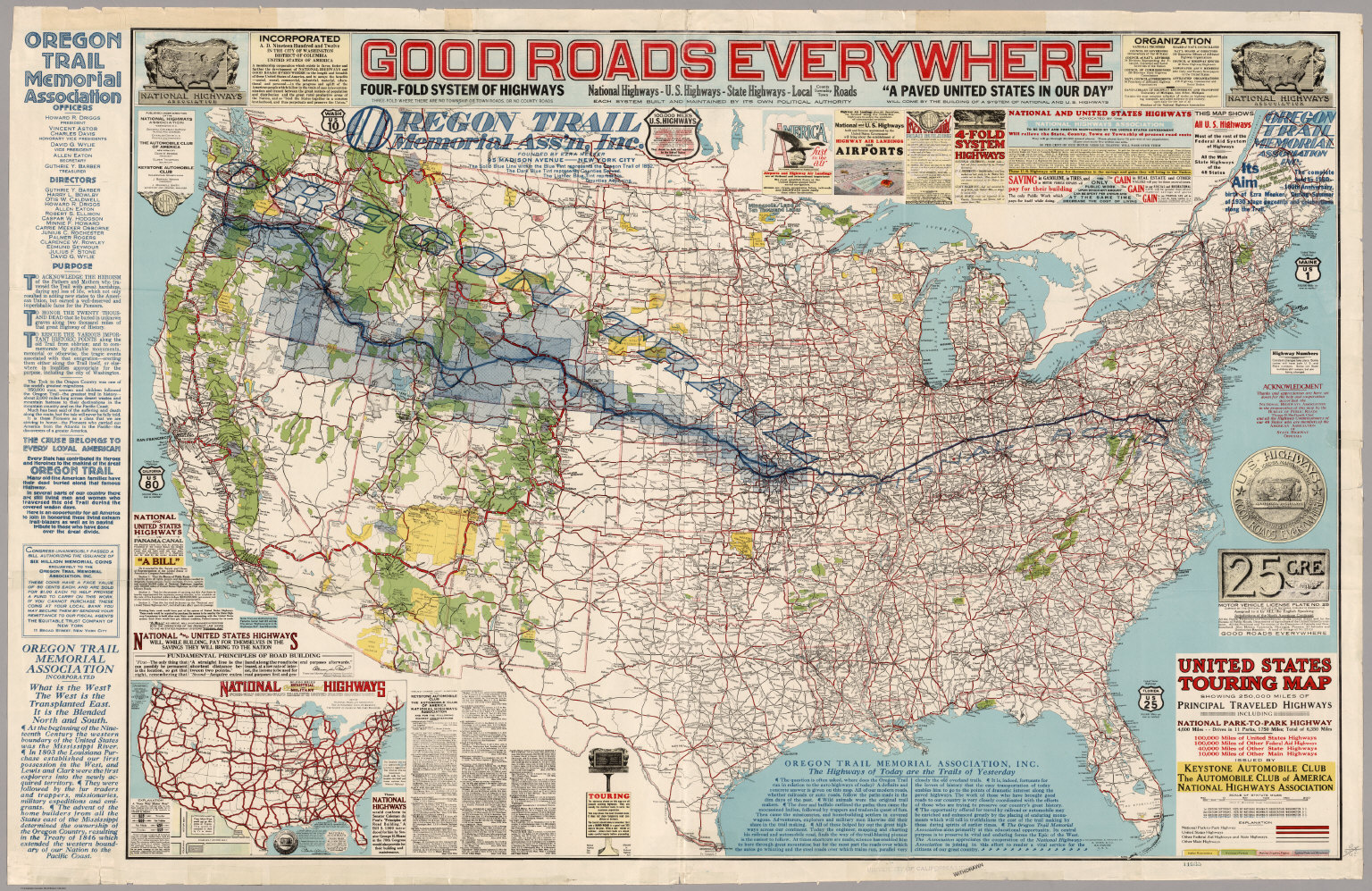 United States Touring Map David Rumsey Historical Map Collection Buy Us Map Of National Parks