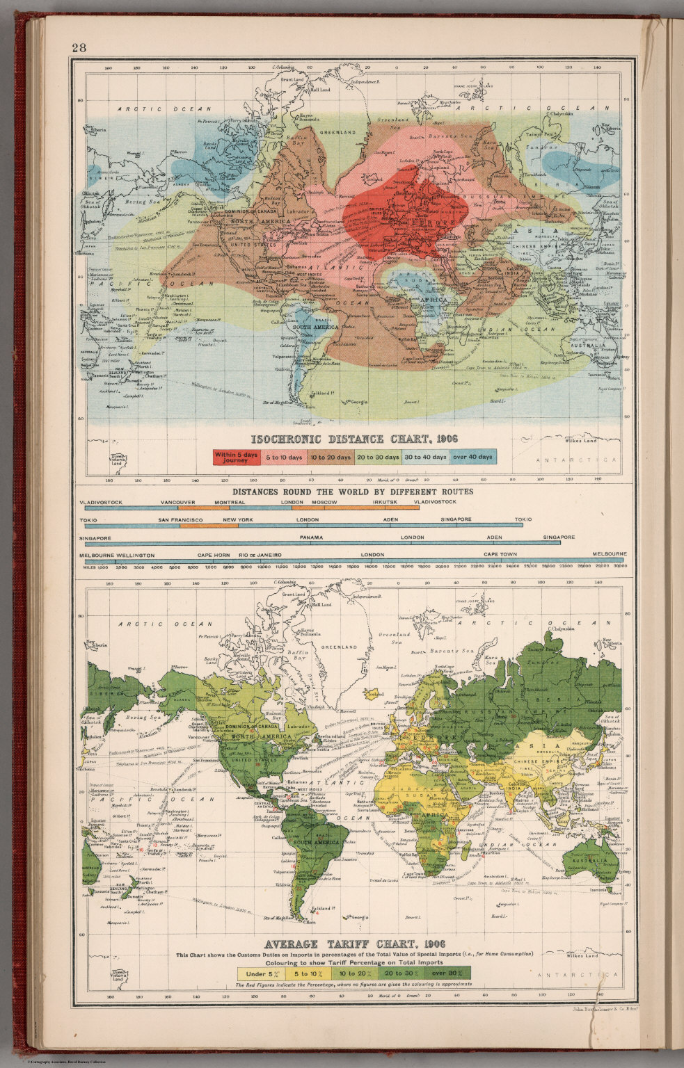Isochronic Distance Chart 1904 Average Tariff Chart 1906 – Travel Distance Map