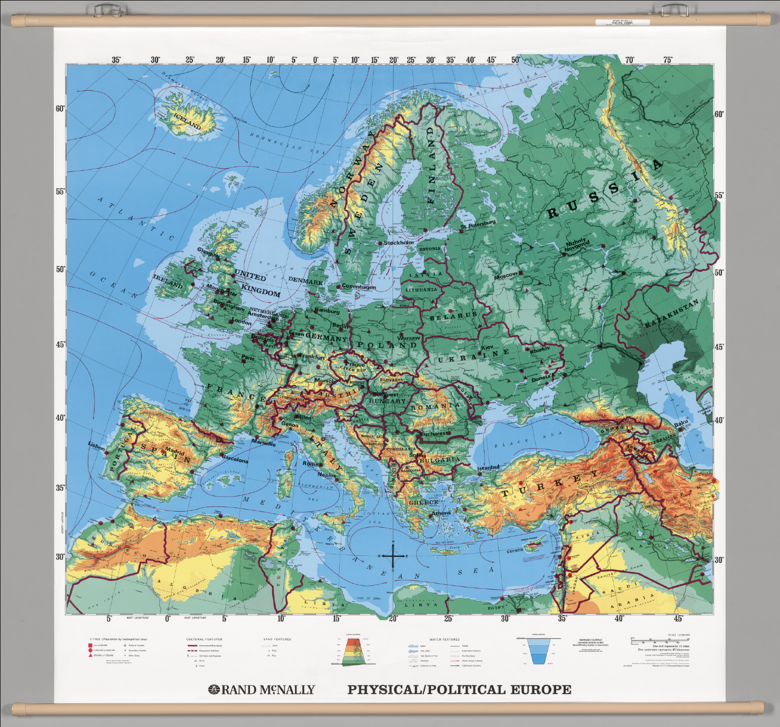 Physical Map Of Europe For Kids The Image Kid Has It