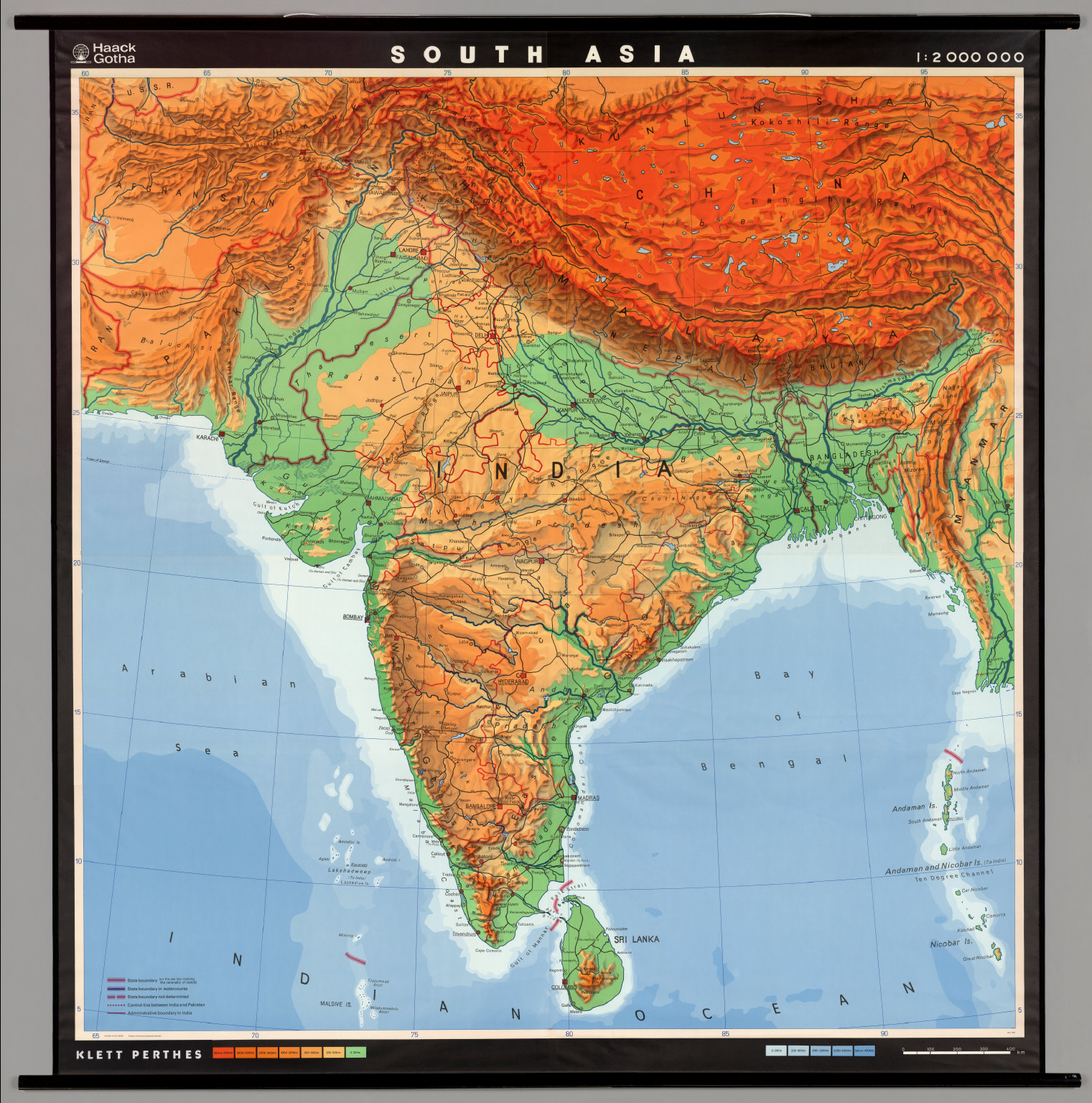 South Asia PhysicalPolitical David Rumsey Historical Map – The Map of South Asia