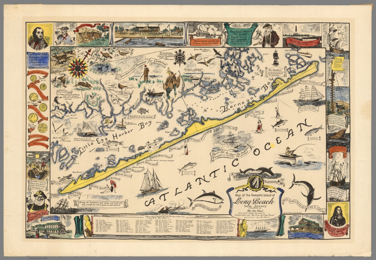 Image gallery long beach island map for Lbi surf fishing report