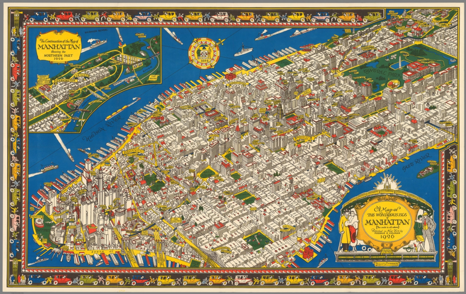 This Illustrated  Map Of Manhattan Shows The City As It Was - Nyc pre k map