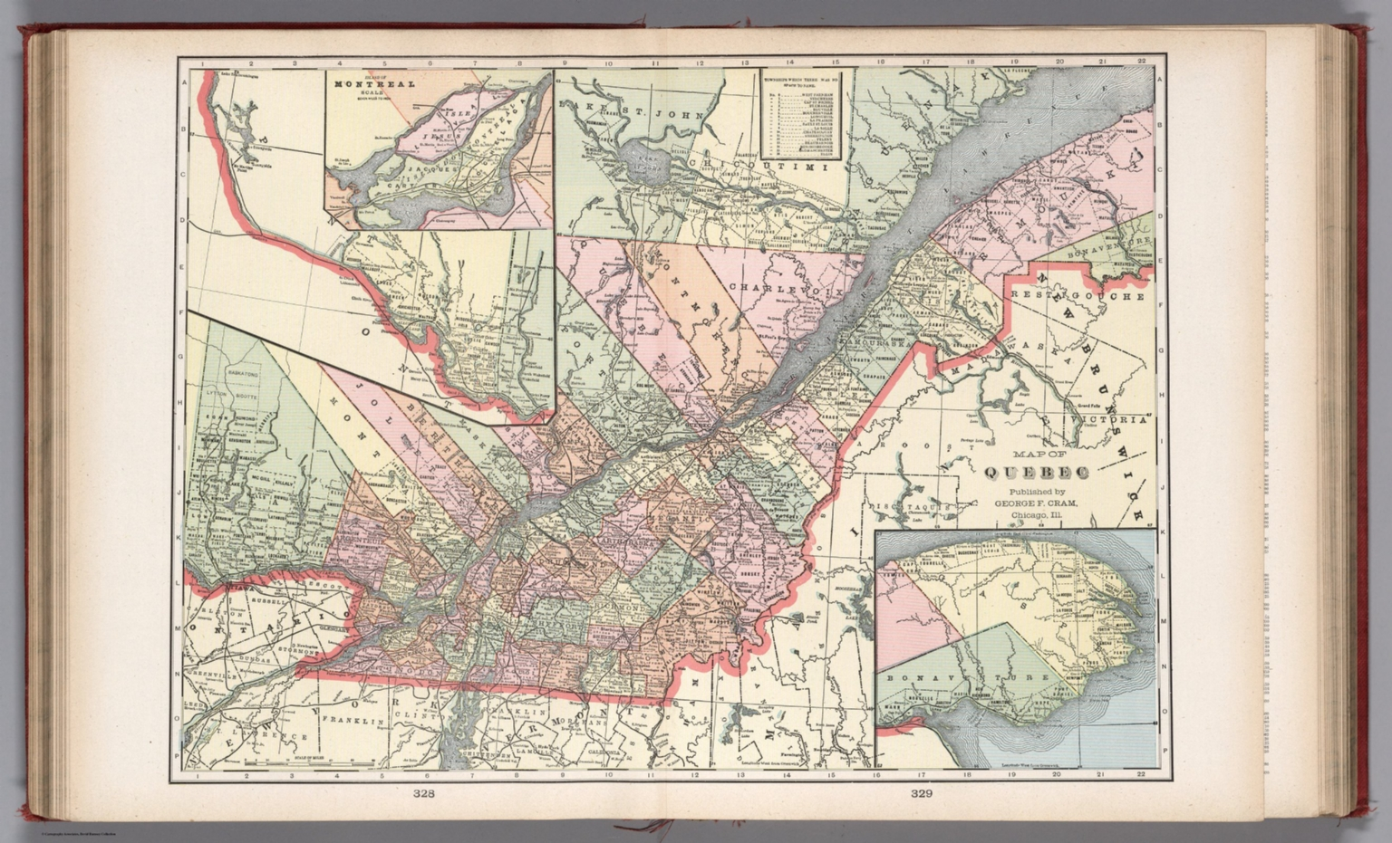 Map Of Quebec David Rumsey Historical Map Collection - Quebec chicago map