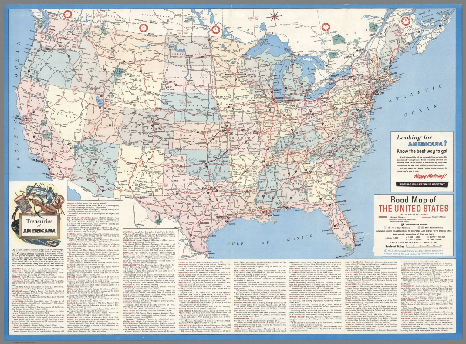 1962 United States Highway Map