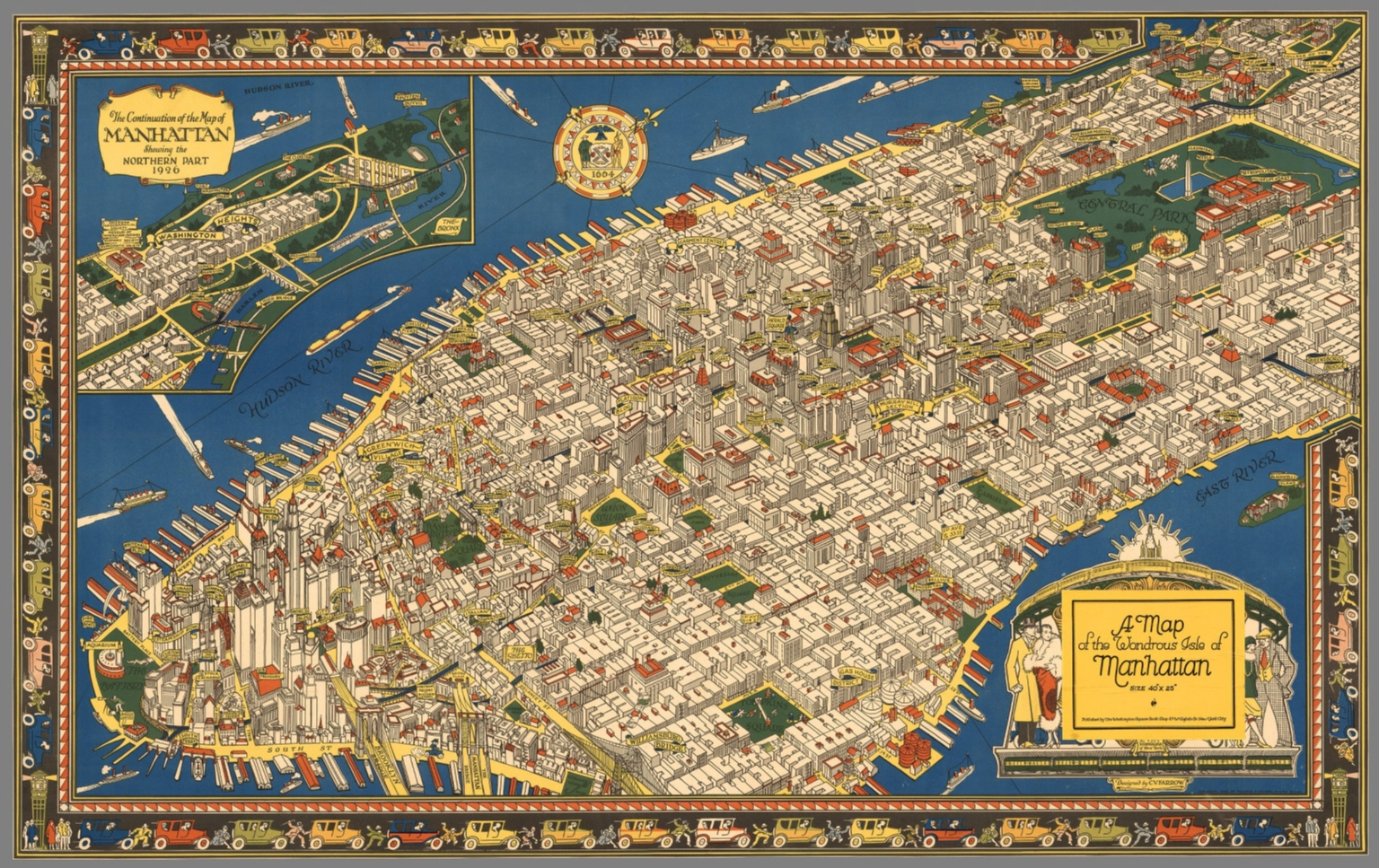 A map of the wondrous isle of Manhattan David Rumsey Historical – Map Manhattan