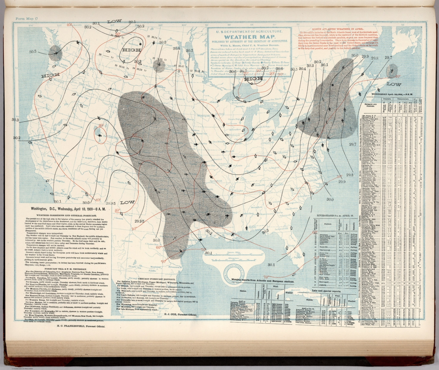 Composite Soil Map Of The United States Atlas Of American The - Us weather bureau maps