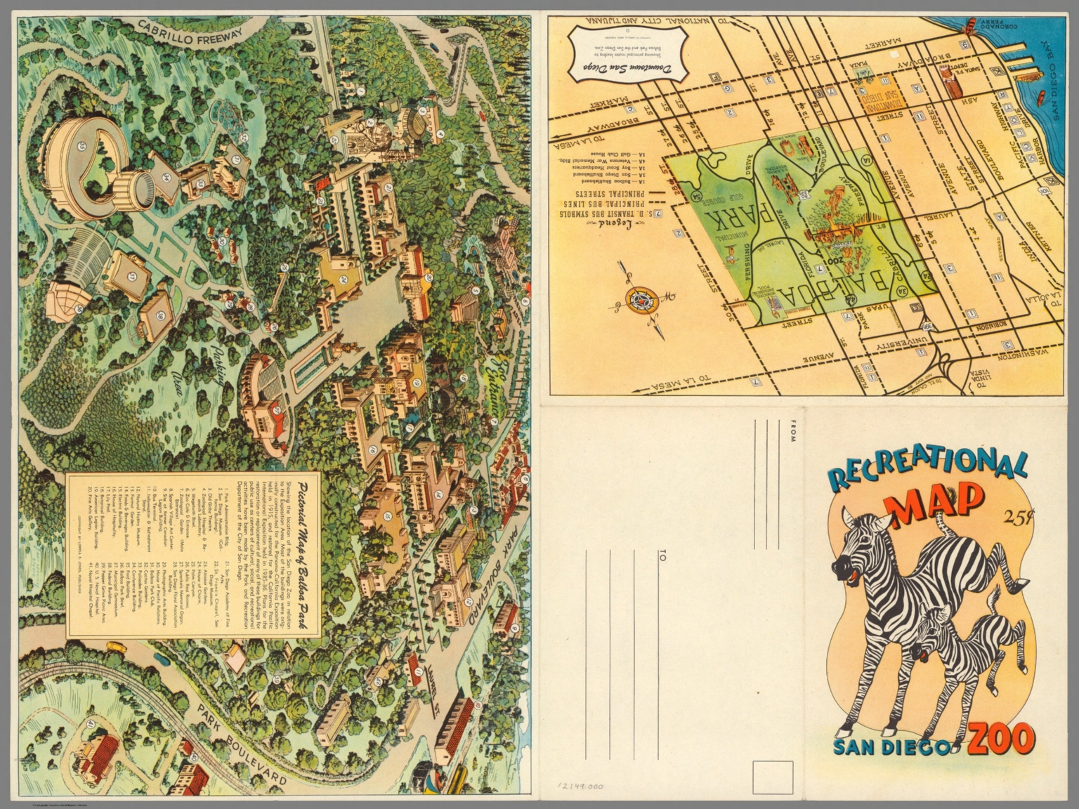 Covers Recreational Map San Diego Zoo Downtown San Diego - San diego zoo map