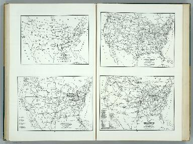 United States and Contiguous Territories: Federal Reserve Districts, Commercial Airways, Highways, and Railroads.