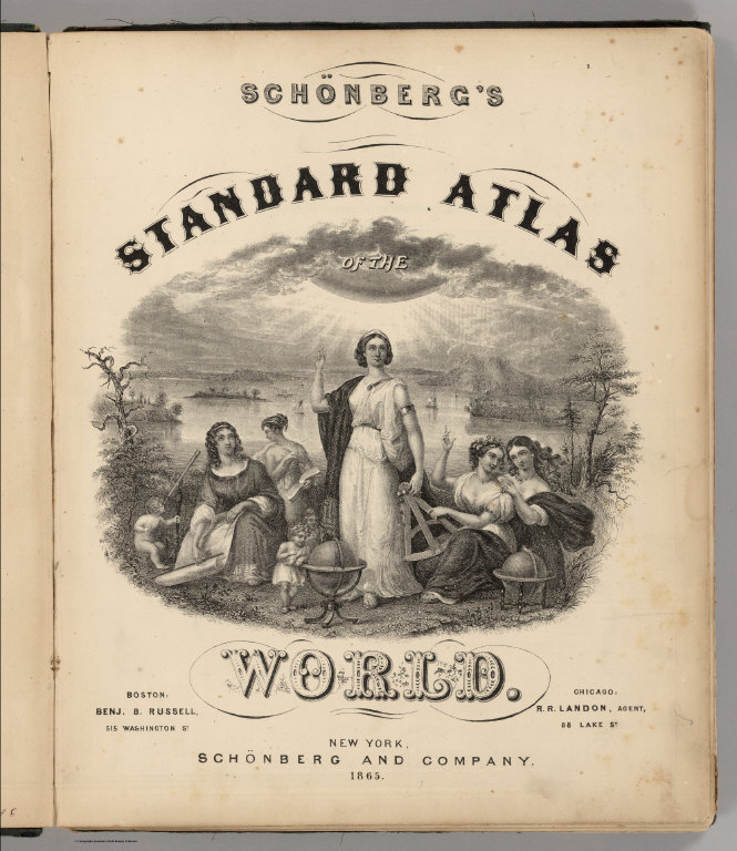 Title Page: Schonberg's Standard Atlas Of The World.