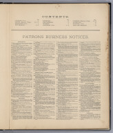Table of Contents: Atlas Of Staten Island. Patrons Business Notices.