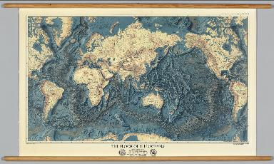 World -- Ocean Floors and Land Relief.