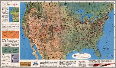 Air Atlas - United Air Lines. United System Map.