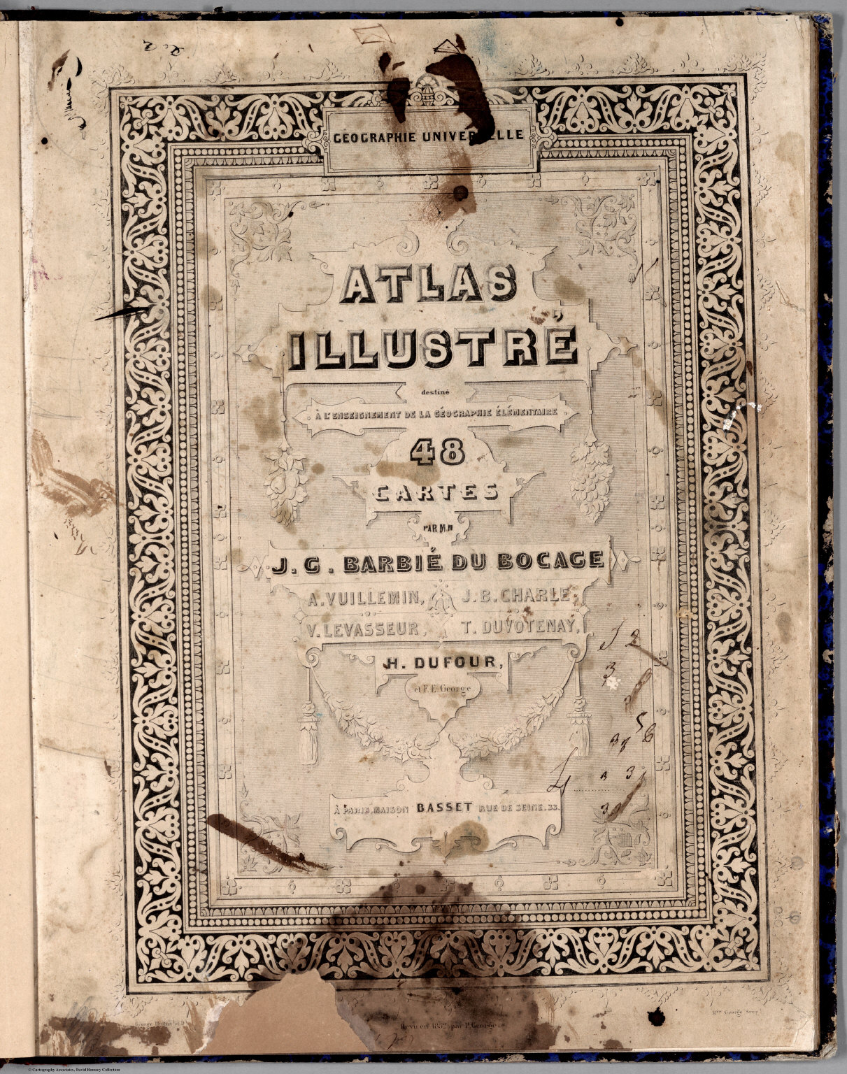 Title Page: Geographie Universelle Atlas.