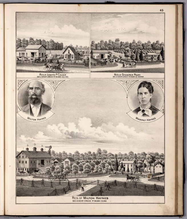 View: Residences of Joseph P. Colter, Stamper Perry, Miami County, Indiana. Portrait: Haynes.