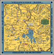 A Hysterical Map of the Yellowstone Park with Apologies to the Park